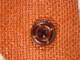 Designer 4 hole Buttons from Japan 1 inch Dark Brown #Bpiece-324