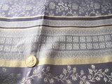 Old China Blue Off White Drapery Fabric # K-422
