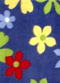 Floral Navy Blue Fleece Fabric NV-6