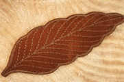 Chocolate Brown Leaf Applique # appliques-1030