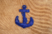 Navy Blue Anchor Iron On Applique # appliques-1069