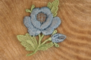 Light Blue Flower Applique # appliques-1097
