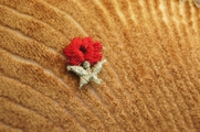 Lovely Little Red Flower Applique # appliques-1098