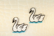 Swimming White Swan Iron-On Applique #appliques-3