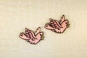 Flying Pink Bird Iron-On Applique #appliques-4