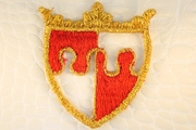 Gold Metallic Red Shield Design Iron-On Applique #appliques-29