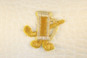 Gold Silver Metallic Golf Set Design Iron-On Applique #appliques-30