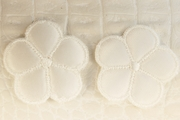 White Satin Faced 5 Petals Flower Vintage Applique #appliques-58