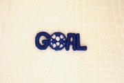 Blue Goal with Soccer Ball Applique #appliques-1013