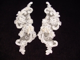 Beaded Embroidery Applique (Pair) #AP-18