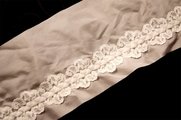 "4 3/4"" Vintage Off White Sheer Braided Lace Trim #1006"