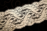 "5 1/4"" Off White Floral Galloon Lace Trim #1071"