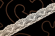 "1 1/8"" Natural White Fine Lace Trim #1138"