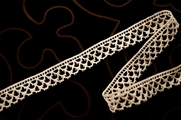 "3/4"" Natural White Cotton Vintage Lace Trim #1226"