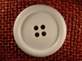 (10pcs) 4 holes Italian Buttons 1 3/4 inches White #bag-190