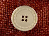 (24pcs) 4 holes Italian Buttons 1 3/8 inches Off White #bag-194