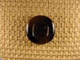 (86pcs) 4 holes Designer Buttons 13/16 inch Dark Brown #bag-19