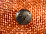 (36pcs) Faux Leather Buttons 7/8 inch Black #bag-204