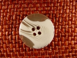 (50pcs) 4 holes Designer Buttons 1 inch White #bag-20