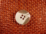 (72pcs) 4 holes Designer Buttons 13/16 inch Clear White #bag-216