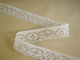 "3/4"" Pure White Fine Lace Trim LT-251"