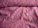 Grape Pink Embroidered Stretch Crepe Fabric # NV-411