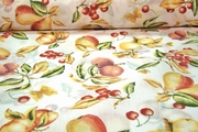 Apple Pear Cherry Fruits Print Fabric # K-237