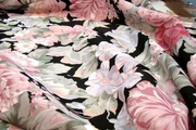 Extra Wide Big Floral Washable Cotton Print Fabric # K-349