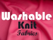 Washable Knit Fabric