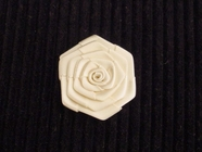 Ivory Rose Flower Ribbon Applique #AP-265