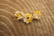 Gold Yellow Beige Cream Floral Applique # appliques-1063