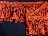"Italian 5"" Exclusive Scarlet Red Bullion Tassel Fringe Trim LT-30"