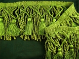 "Italian 5 1/4"" Exclusive Olive Green Bullion Tassel Fringe Trim LT-56"