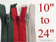 "Sewing Zippers - 10"" to 24"""