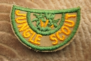 Orange and Green Jungle Scout Badge Applique # appliques-1055