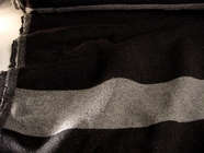 Italian Black / Grey Double Face Reversible Wool Coating Fabric # WL-44