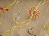 Silk Embroidered Fabric #RR-124