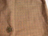 Brown Black Check Stretch Fabric #-NV-661