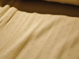 Natural White Cotton Designer Novelty Knit Fabric NV-10