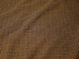 Stretch Brown Black Tan Check Fabric #NV-121