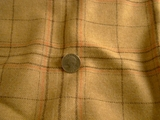 Designer Camel Wool Flannel Plaid Fabric # WL-142