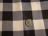 Navy White Checker Cotton Flannel Fabric with Laminated Backing #-3F-446