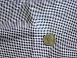 Navy White Small Check Rayon Fabric #-3F-476