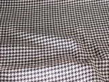 Navy/White Houndstooth Wool Fabric #01-WL-280
