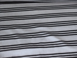 Navy Striped Silver Grey Slinky Knit Fabric #03-NV-512
