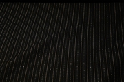 Black Tan Metallic Pinstripe Fabric #NV-422