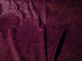 Deep Purple Wine Snakeskin Napped Knit Fabric #NV-133