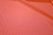 Salmon Pink Designer Rib Knit Fabric #NV-624