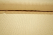 Off White Natural Pure Cotton Designer Novelty Rib Knit Fabric #NV-642