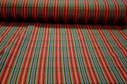 Designer Striped Cotton Blend Bengaline Fabric #NV-733